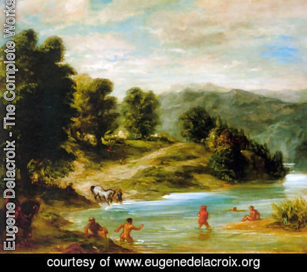 Eugene Delacroix - The Banks of the River Sebou