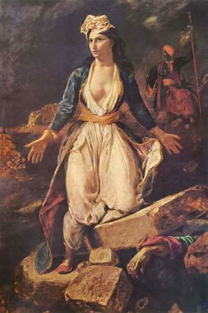 Eugene Delacroix - Greece on the Ruins of Missolonghi