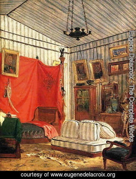Eugene Delacroix - Count de Mornay's Apartment