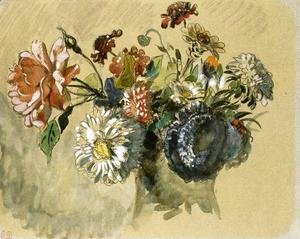 Eugene Delacroix - Bouquet of Flowers