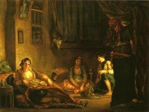 Eugene Delacroix - Women of Algiers in Their Apartmente