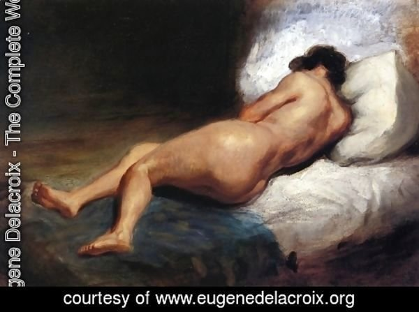 Eugene Delacroix - Study of a Reclining Nude