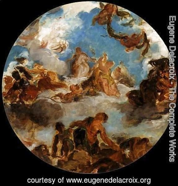Eugene Delacroix - Sketch for Peace Descends to Earth