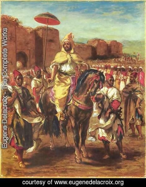 Eugene Delacroix - The Sultan of Morocco and his Entourage