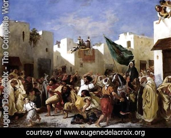 Eugene Delacroix - The Fanatics of Tangier