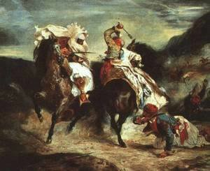 Eugene Delacroix - Combat of Giaour and Hassan