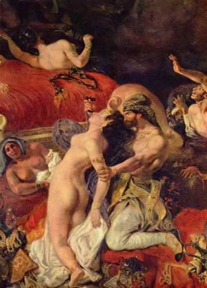Eugene Delacroix - Death of the Sardanapal (detail)