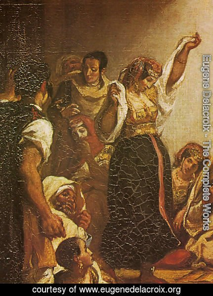 Eugene Delacroix - Jewish Wedding in Morocco (detail)