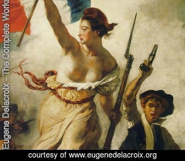 Eugene Delacroix - Liberty Leading the People (Detail) 1