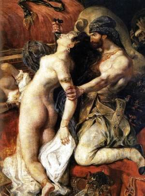 Eugene Delacroix - The Death of Sardanapalus (detail)