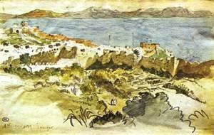 Eugene Delacroix - Bay of Tanger in Morocco