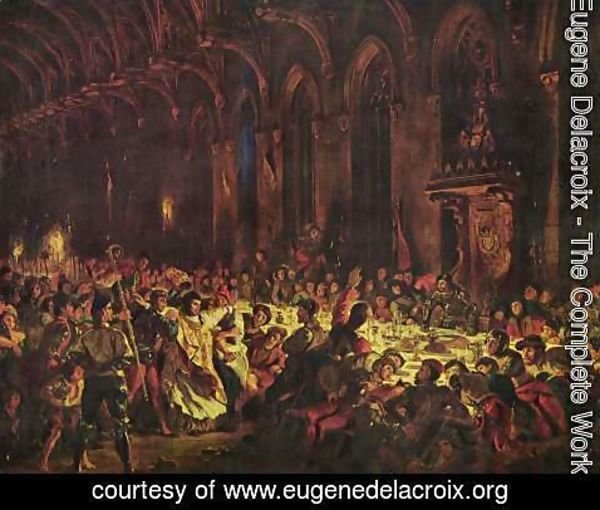 Eugene Delacroix - Murder of the bishop von Luettich