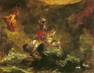 Eugene Delacroix - St George killing the dragon