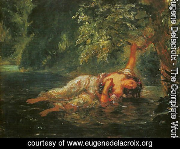 Eugene Delacroix - The Death of Ophelia1