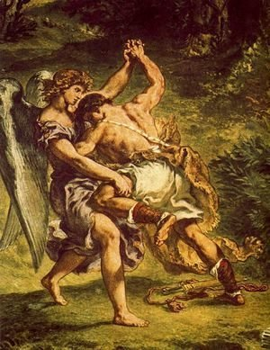 Eugene Delacroix - Jakob's fight with the angel (detail3)