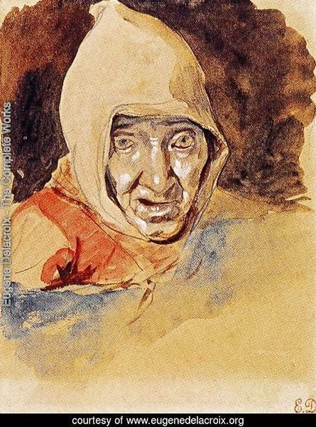 Head of an elderly woman