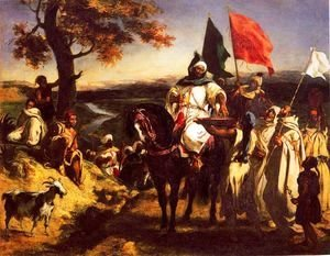 Eugene Delacroix - Moroccan Chieftain Receiving Tribute