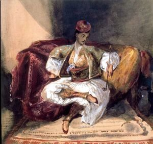 Seated Turk Smoking