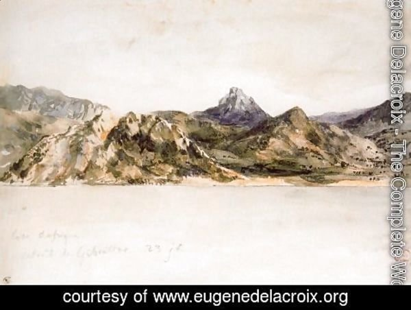 Eugene Delacroix - The Coast of Africa Seen from the Strait of Gibraltar