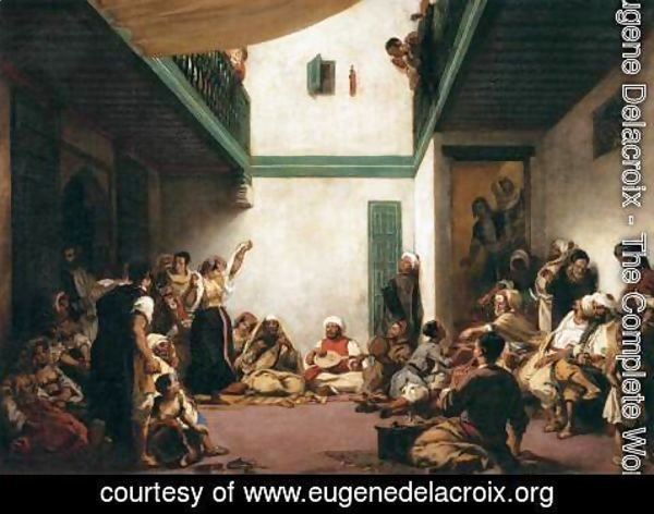 Eugene Delacroix - Jewish Wedding in Morocco 2