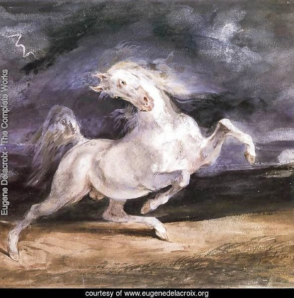 Horse Frightened by a Storm