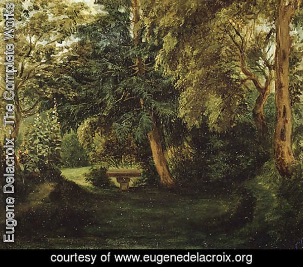 George Sands Garden at Nohant ca 1840s