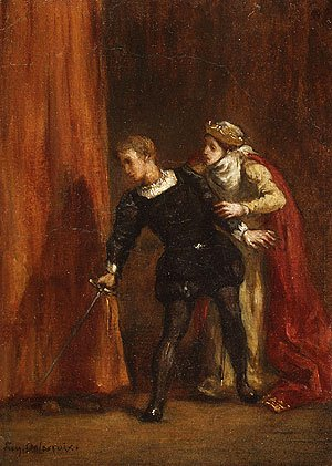 Eugene Delacroix - Hamlet and His Mother