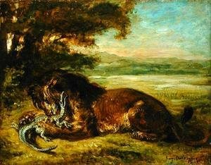 Eugene Delacroix - Lion and Alligator 1863