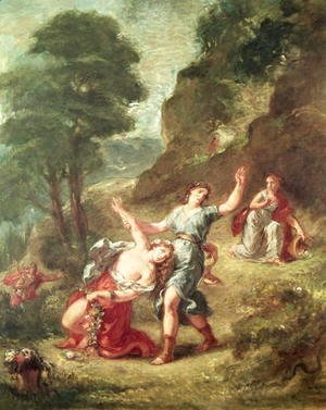 Eugene Delacroix - Orpheus and Eurydice Spring from a series of the Four Seasons 1862