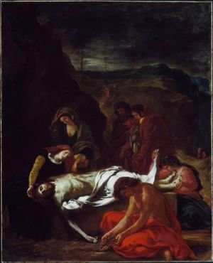 Eugene Delacroix - The Entombment Of Christ 1848