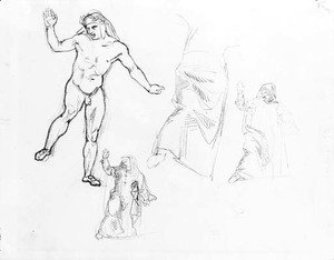 Studies for La barque de Dante