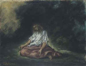 Eugene Delacroix - Christ in the Garden of Gethsemane