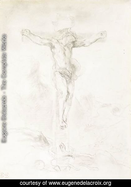 Eugene Delacroix - Christ on the Cross 2