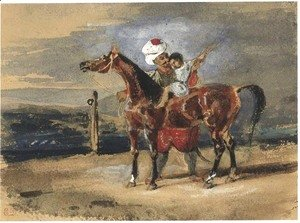 Eugene Delacroix - The Riding Lesson