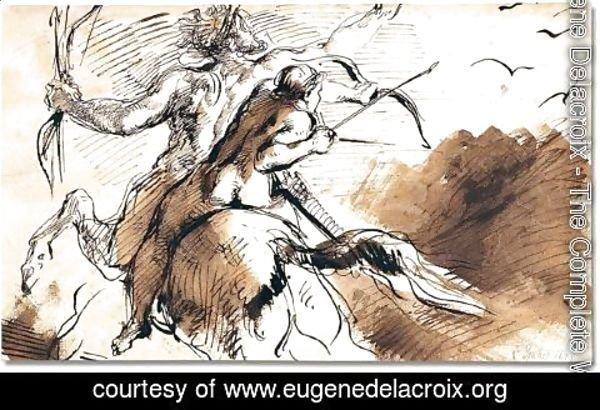 Eugene Delacroix - Study for 'the education of Achilles'