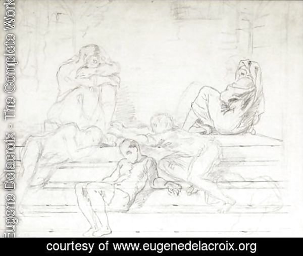 Eugene Delacroix - Count Ugolino And His Sons In The Tower