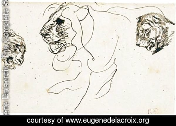Eugene Delacroix - Pen And Brown Ink
