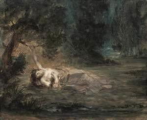 Eugene Delacroix - The Death of Ophelia