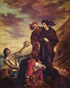 Eugene Delacroix - Hamlet and Horatio in the cemetery