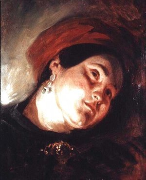 Head of a Woman in a Red Turban