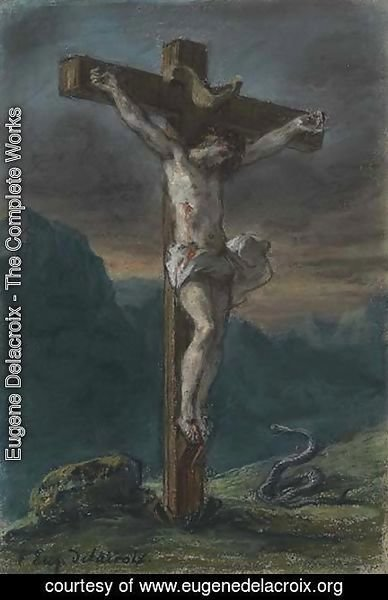 Eugene Delacroix - Christ on the Cross 3