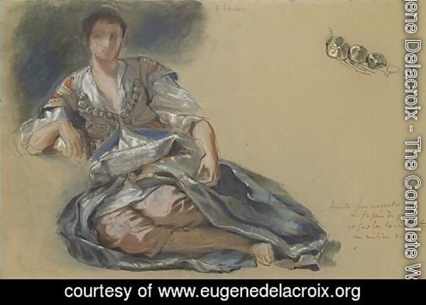 Eugene Delacroix - Study for the painting Women of Algiers
