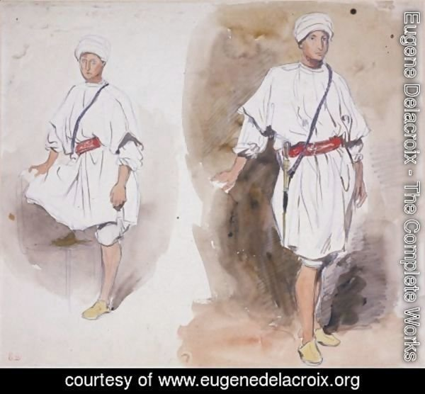Eugene Delacroix - Two Views of a Young Arab