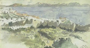 Eugene Delacroix - View of Tangier
