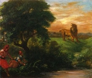 Eugene Delacroix - The Lion Hunt
