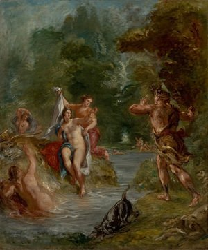 Eugene Delacroix - The Summer Diana Surprised by Actaeon