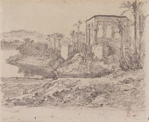 Eugene Delacroix - Kiosk of Trajan at Philae