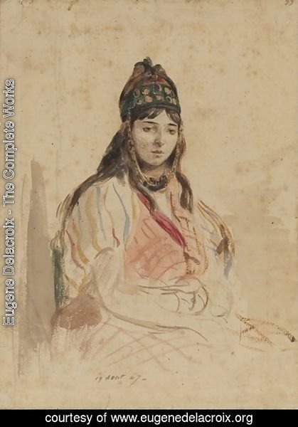 Eugene Delacroix - A North African Jewess