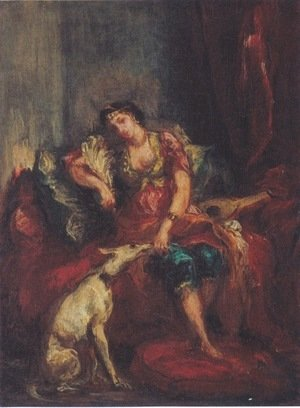 Woman from Algiers with Windhund