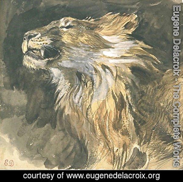 eugene delacroix the complete works roaring lion s head